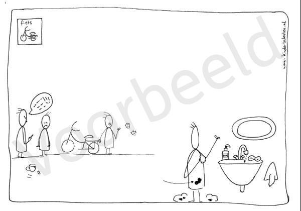Grote foto spellingkleurplaten blok 3 de fiets pdf bestand kinderen en baby overige