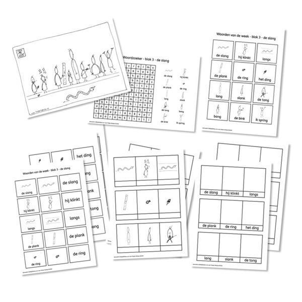 Grote foto spellingkleurplaten blok 3 de slang pdf bestand kinderen en baby overige
