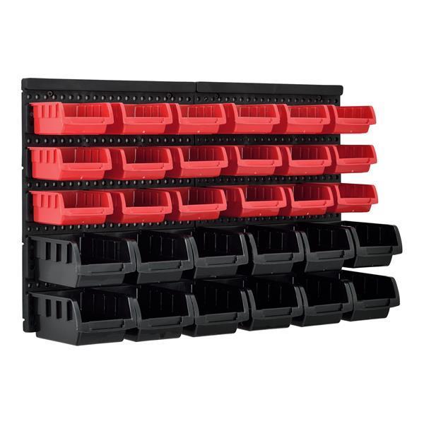 Grote foto 32 delige opbergsysteem wandrek stapelbox 41x64x17 5 cm doe het zelf en verbouw gereedschappen en machines