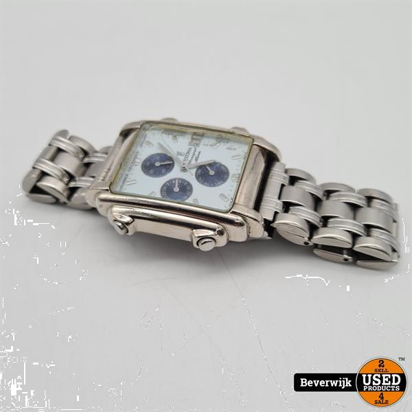 Grote foto festina horloge f6561 blauw wit zilver in goede staat kleding dames horloges