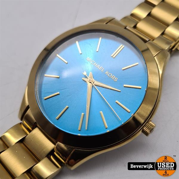 Grote foto michael kors mk3265 gold blue in nette staat kleding dames horloges