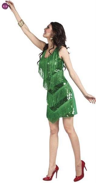 Grote foto kerstvrouw jurkje glitters kerstboom verzamelen overige verzamelingen