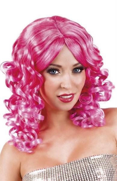 Grote foto pruik lang haar krul roze verzamelen overige verzamelingen