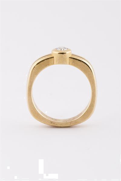 Grote foto massieve solitair ring met briljant sieraden tassen en uiterlijk ringen voor haar