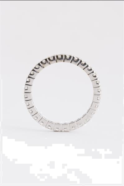 Grote foto wit gouden alliance ring met briljanten sieraden tassen en uiterlijk ringen voor haar