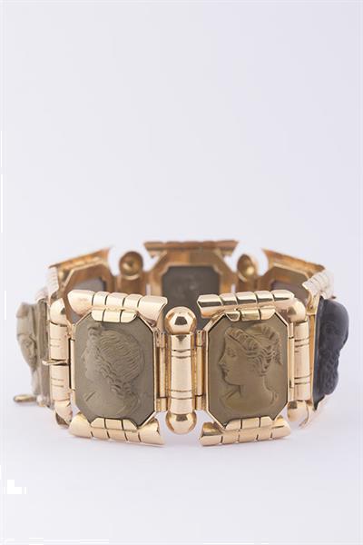 Grote foto antieke schakel armband met lava cam sieraden tassen en uiterlijk armbanden voor haar