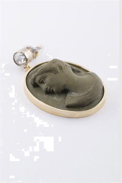 Grote foto gouden oorhangers met lava cam e en diamant sieraden tassen en uiterlijk oorbellen
