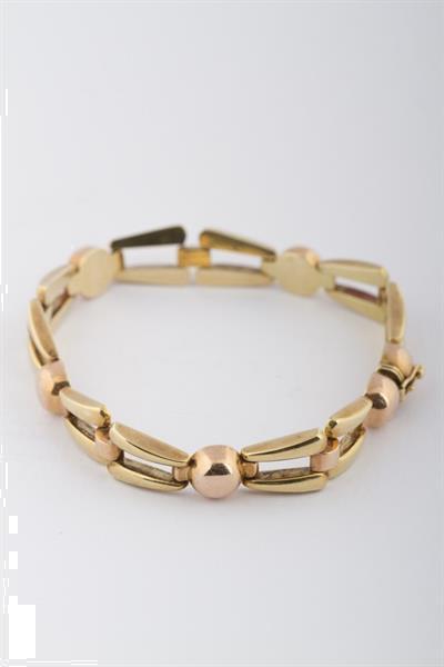 Grote foto gouden bi color schakel armband sieraden tassen en uiterlijk armbanden voor haar