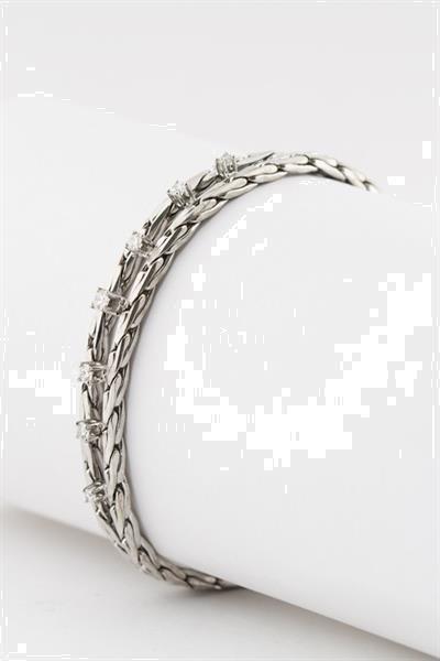 Grote foto wit gouden schakel armband met briljanten sieraden tassen en uiterlijk armbanden voor haar
