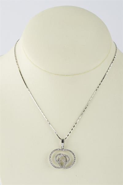 Grote foto wit gouden hanger met 74 briljanten sieraden tassen en uiterlijk kettingen
