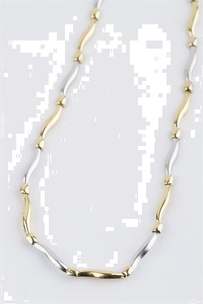 Grote foto wit geel gouden schakel collier sieraden tassen en uiterlijk kettingen