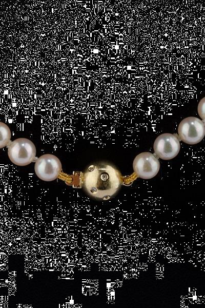 Grote foto parel collier aan gouden bolsluiting met diamanten sieraden tassen en uiterlijk kettingen
