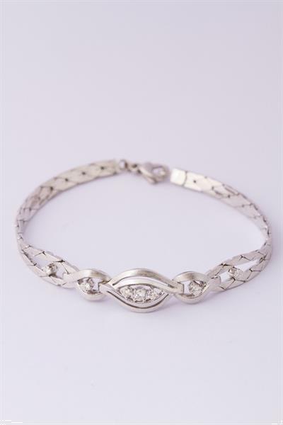 Grote foto wit gouden armband met 7 briljanten sieraden tassen en uiterlijk armbanden voor haar