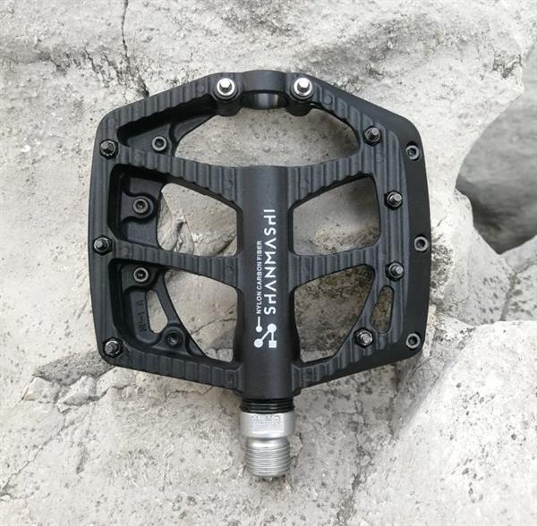 Grote foto shanmashi np 1 1pair nylon carbon fiber pedal non slip comfo fietsen en brommers algemeen