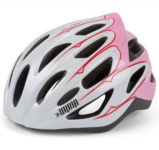 Grote foto polisport fietselm urbia dames eps wit roze caravans en kamperen kampeertoebehoren