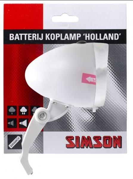 Grote foto simson koplamp holland led batterij voorvork caravans en kamperen kampeertoebehoren