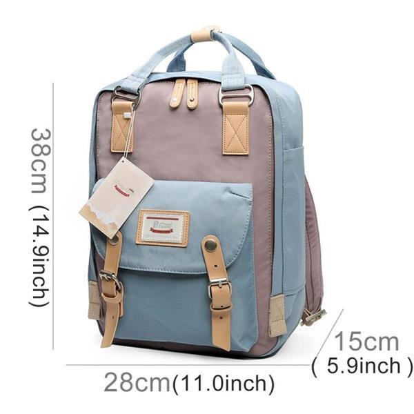 Grote foto fashion casual travel backpack laptop tas student met hengse caravans en kamperen kampeertoebehoren