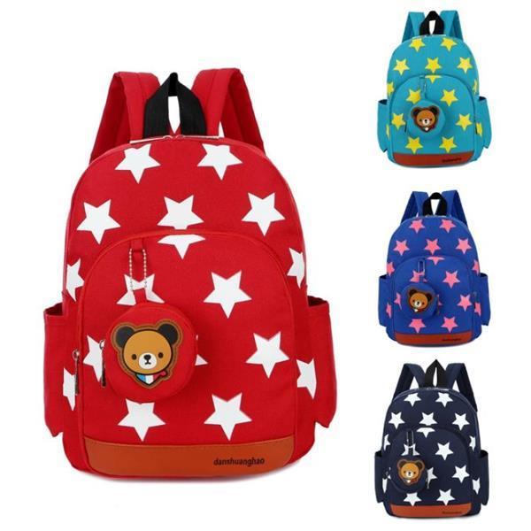 Grote foto nylon stars printing kindergarten children backpack schoolba caravans en kamperen kampeertoebehoren