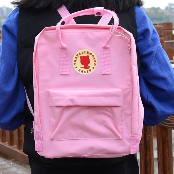 Grote foto outdoor casual academic style student school canvas backpack caravans en kamperen kampeertoebehoren