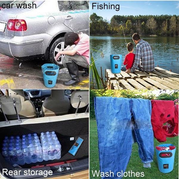 Grote foto outdoor draagbare folding sink pvc opvouwbare emmer capacit caravans en kamperen kampeertoebehoren