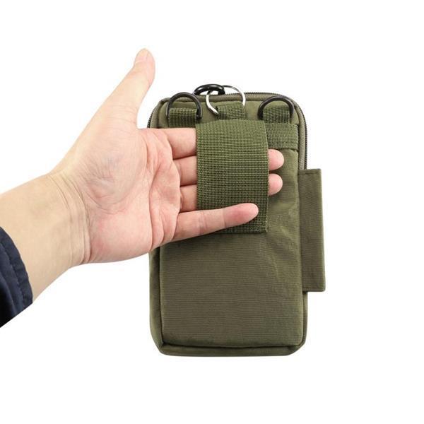 Grote foto outdoor phone draagtas pouch nylon crossbody schouder riem w caravans en kamperen kampeertoebehoren