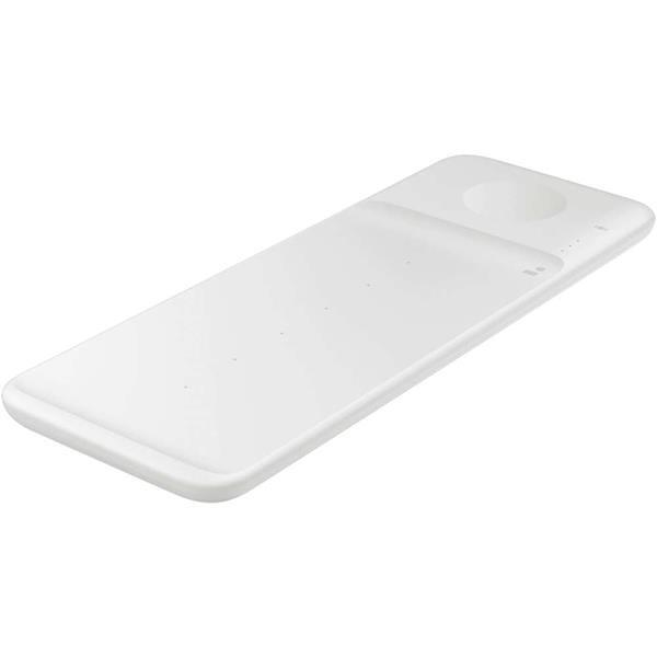 Grote foto samsung wireless charger trio pad wit telecommunicatie opladers en autoladers