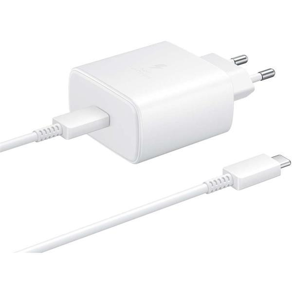 Grote foto samsung usb c fast charger 45w white ep ta845xw telecommunicatie opladers en autoladers