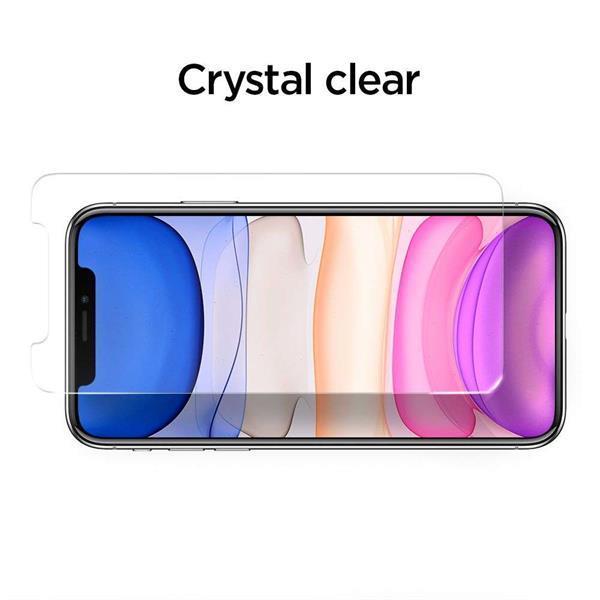 Grote foto spigen apple iphone 11 alignmaster full cover glass met mont telecommunicatie apple iphone