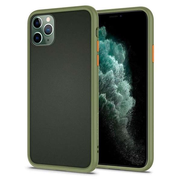 Grote foto spigen cyrill color brick apple iphone 11 pro hoesje khaki telecommunicatie apple iphone