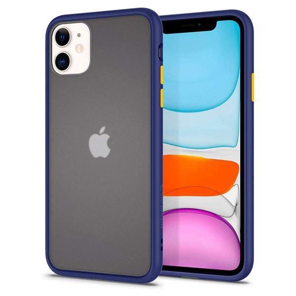 Grote foto spigen cyrill color brick apple iphone 11 hoesje navy telecommunicatie apple iphone