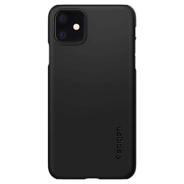 Grote foto spigen thin fit apple iphone 11 hoesje zwart telecommunicatie apple iphone