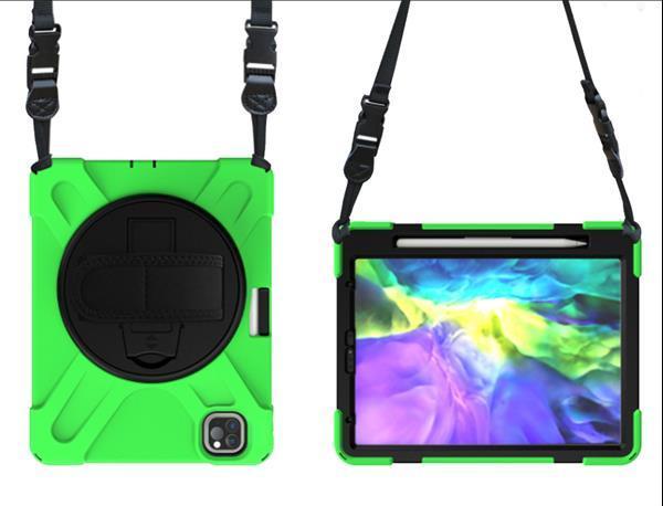 Grote foto apple ipad pro 2020 hybride kickstand hoes met handriem groe telecommunicatie tablets