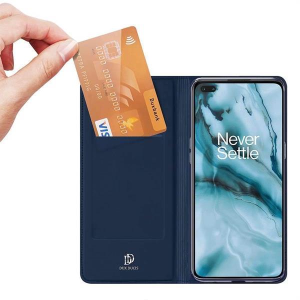 Grote foto dux ducis oneplus nord tpu wallet hoesje blauw telecommunicatie mobieltjes