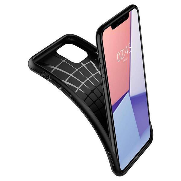 Grote foto apple iphone 11 pro max spigen liquid air hoesje zwart telecommunicatie apple iphone