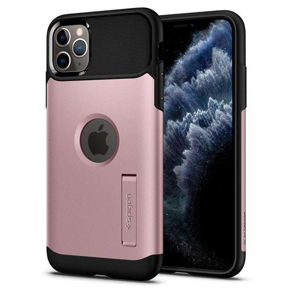 Grote foto apple iphone 11 pro spigen slim armor hoesje rose goud telecommunicatie apple iphone