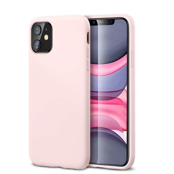 Grote foto apple iphone 11 esr yippee color hoesje roze telecommunicatie apple iphone