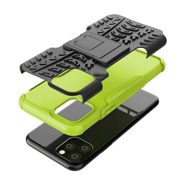 Grote foto apple iphone 11 pro rugged hybrid hoesje groen telecommunicatie apple iphone