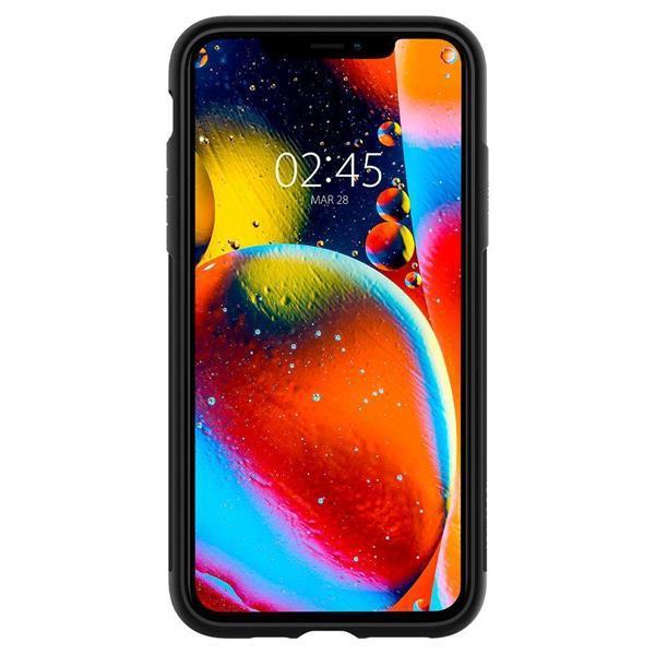 Grote foto apple iphone 11 pro max spigen slim armor hoesje zwart telecommunicatie apple iphone