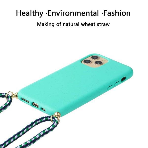 Grote foto apple iphone 12 pro max soft tpu case with strap blauw telecommunicatie apple iphone