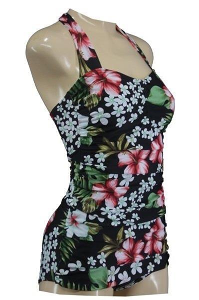 Grote foto aloha beachwear vintage pinup bathing suit hawai. kleding dames badmode en zwemkleding