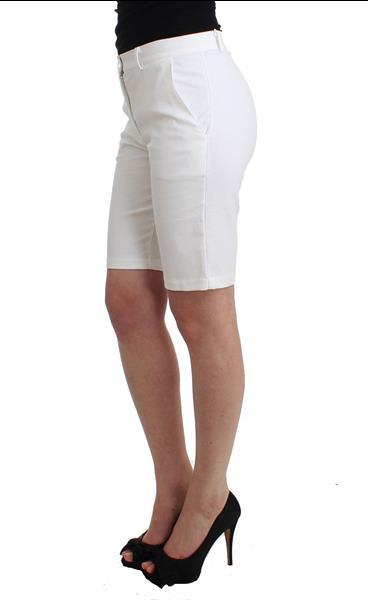 Grote foto ermanno scervino beachwear white bermuda city shorts dress i kleding dames broeken en pantalons