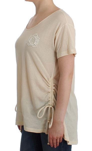 Grote foto ermanno scervino beachwear white maxi t shirt top blouse it4 kleding dames t shirts