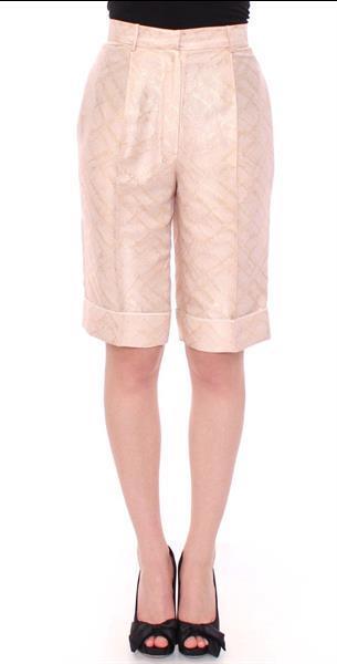 Grote foto zeyneptosum beige brocade above knee shorts it44 l kleding dames broeken en pantalons