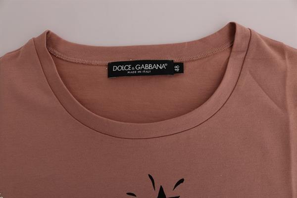 Grote foto dolce gabbana beige cotton 2017 motive t shirt it48 xxl kleding dames t shirts
