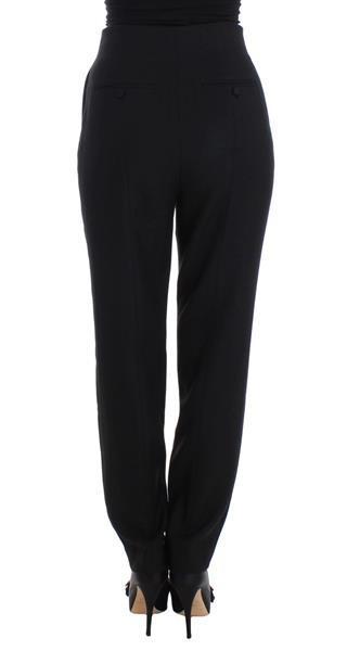 Grote foto kaale suktae black high waist straight slim dress pants it40 kleding dames spijkerbroeken en jeans
