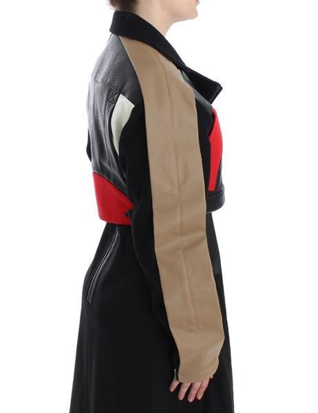 Grote foto kaale suktae black short croped coat biker jacket it40 s kleding dames jassen zomer