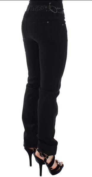 Grote foto ermanno scervino black slim jeans denim pants skinny stretch kleding dames spijkerbroeken en jeans