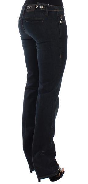 Grote foto costume national blue slim fit jeans w33 kleding dames spijkerbroeken en jeans