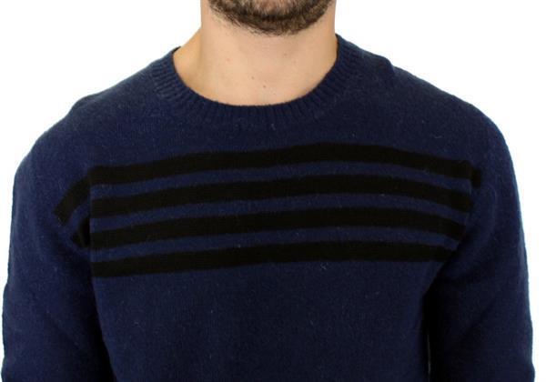 Grote foto costume national blue striped sweater pullover it54 xxl kleding heren truien en vesten