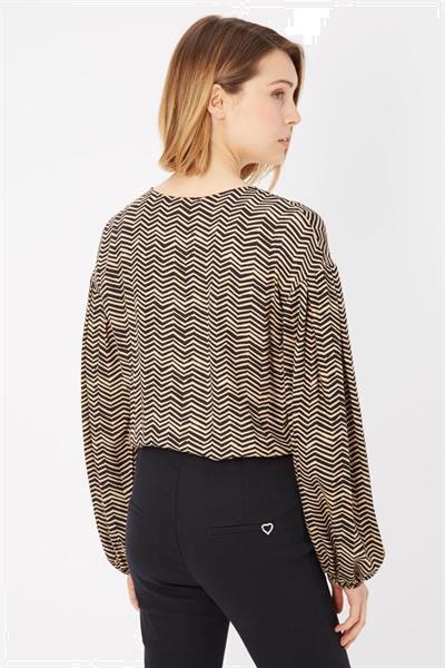 Grote foto please brown black sweater s kleding dames truien en vesten